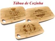 Tábua de Cozinha em Bambu de 30x20cm Personalizada com Gravação Digítal