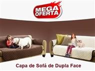 Capa de Sofá Dupla Face (Castanho e Bege). Ideal para quem tem Crianças e ou Animais.