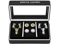 Conjunto Pierre Cardin Gold & Silver Circles com 2 Colares e 2 Pares de Brincos.