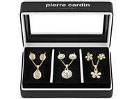 Conjunto Pierre Cardin Triple Dream Gold & Silver com 3 Colares e 3 Pares de Brincos.