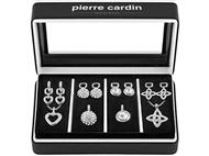Conjunto Pierre Cardin Stars & Silver Hearts com 4 Colares e 4 Pares de Brincos.