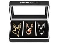 Conjunto Pierre Cardin PXX6887 com 3 Colares e 3 Par de Brincos.