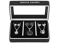 Conjunto Pierre Cardin PXX0214 com 3 Colares e 3 Par de Brincos.