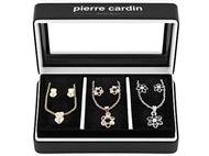 Conjunto Pierre Cardin PXX0213 com 3 Colares e 3 Par de Brincos.