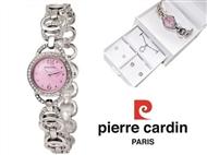 Conjunto Pierre Cardin Cristals Pink com Relógio, Colar e 2 Pares de Brincos.