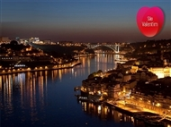 DIA dos NAMORADOS no DOURO: Cruzeiro com Jantar Romântico no Rio Douro e Hotel 4* no Porto.