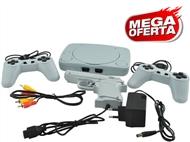 Consola Retro com 2 Comandos, Pistola e Jogos  (Super Mario Bros, F1 Race, Soccer, etc.).