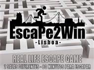 Escape2Win - The Bomb: De 2 a 5 Pessoas pessoas em Lisboa.O tempo está a contar para este enigma.