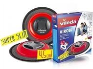 Mopa Robô ViRoBi Super Slim VERMELHO da Vileda que limpa a casa sozinho sem fios.