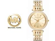 Relógio de Pulso Michael Kors Darci Glitz Gold. Um presente para um amor atemporal.