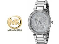 Relógio de Pulso Michael Kors Parker Silver Crystal. Um presente para um amor atemporal.