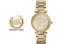 Relógio de Pulso Michael Kors Mini Parker Champagne Glitz. Um presente para um amor atemporal.
