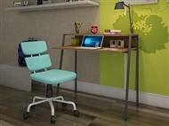 Secretária e Cadeira com 2 Cores à Escolha. Um local de trabalho com todo o conforto que precisa