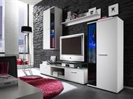 Móveis de Sala em Branco. Um modelo elegante que conjuga arte e tecnologia para a sua sala