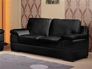 Sofá de 3 Lugares em Pele Sintética com 2 Cores à Escolha. Um design versátil e confortável para sua
