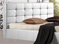 Cabeceira para Cama de Casal em Pele Sintética Branca com 2 Tamanhos à Escolha