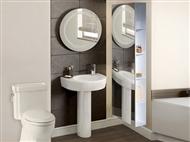Armário de 1 Porta com Espelho em Branco. Uma opção harmoniosa para que tenha mais espaço