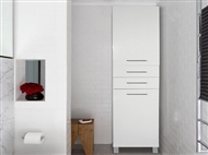 Armário de 2 Portas e 2 Gavetas em Branco. Uma opção harmoniosa para que tenha mais espaço