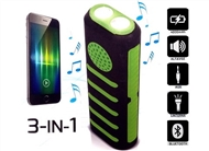 Power Bank 4000 mAh 3 em 1: Carrega por USB com Colunas Bluetooth e Lanterna Dual LED Integrada