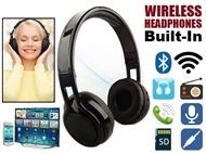 Auscultador sem Fios Bluetooth para Smartphone, Tablet, PC e TV com MP3, Rádio FM e Microfone
