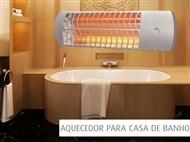 Aquecedor WC de Quartzo de Parede com 3 Níveis de Aquecimento.
