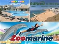ZOOMARINE & Glenridge Albufeira: Estadia 2 a 5 Noites Apartamento T1 até 4 pessoas. CRIANÇA GRÁTIS.