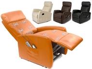 Poltrona de Massagens por Vibração com Aquecimento Lombar, Inclinação, Comando e 4 Cores