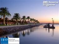 TRYP Montijo Parque Hotel 4*: Fuga junto ao Tejo c/ Jantar, Espumante e Bombons. RESERVA ONLINE.