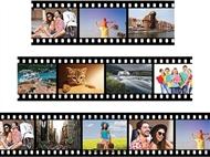 Película de Filme com 3, 4 ou 5 Fotos de 20x30cm em Vinil Autocolante Adesivo Decorativo