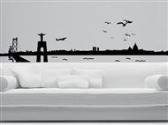 SKYLINE LISBOA em Vinil Autocolante Adesivo Decorativo de 158x40cm para Superfícies Lisas