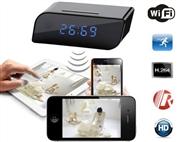 Relógio Despertador com Câmara HD, Gravação Micro SD e Ligação WiFi ao seu Smartphone.
