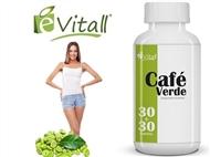 Café Verde da é-Vitall: Frasco de 60 Cápsulas para 60 Dias. PORTES INCLUÍDOS.