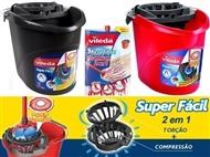 Especial VILEDA 2 em 1: Balde com Espremedor Super Fácil + Esfregona Microfibra Premium.