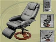 Cadeira Giratória 360º Deluxe com Massagens por Vibração, Inclinação, Aquecimento Lombar e Comando.