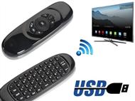 Comando USB Sem Fios com Teclado e Rato para Smart TV e Smart Android TV Box.