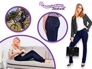 1 ou 2 JEGGINGS COMFORTISSE: Fusão de Jeans e Leggings em Azul com 5 Tamanhos à Escolha