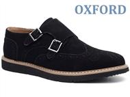 Sapatos Oxford Hebillas Picado Black com várias medidas à escolha. PORTES INCLUÍDOS.