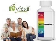 Multivitaminico da é-Vitall: Frasco de 30 Cápsulas para 30 Dias. PORTES INCLUÍDOS.