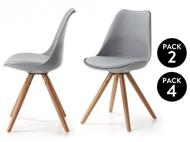 2 ou 4 Cadeiras SCANDINAVIAN com 3 Cores à Escolha
