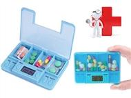 Caixa de Comprimidos com Alarme. Não se esqueça de tomar os seus medicamentos na hora certa