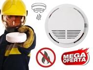 Detector de Fumo sem Fios. Sistema de segurança para a sua casa com instalação rápida e alarme
