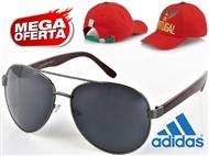 MEGA OFERTA: Óculos de Sol Estilo Aviador. OFERTA: Boné Adidas Portugal FIFA World Cup.