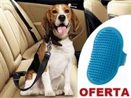 Cinto de Segurança do Carro para Animais de Estimação com OFERTA de Luva Escova
