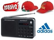 MEGA OFERTA: Rádio Digital Portátil Prateado com Pré-sintonizações e MP3 + OFERTA