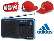 MEGA OFERTA: Rádio Digital Portátil Azul com Pré-sintonizações e MP3 + OFERTA