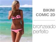 Bikini Comic 2D em Rosa com 3 Tamanhos à escolha. O Bikini que favorece um bronzeado perfeito