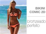 Bikini Comic 2D em Laranja com 3 Tamanhos à escolha. O Bikini que favorece um bronzeado perfeito