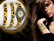 Relógio de Pulso Leopardo com Pulseira em Couro. Um design que realça o seu lado mais sedutor