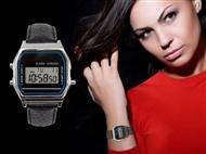 Relógio de Pulso Vintage com Pulseira em Preto. Um relógio para um look perfeito