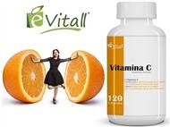 Vitamina C da é-Vitall: Frasco de Comprimidos para 120 Dias. PORTES INCLUÍDOS.
